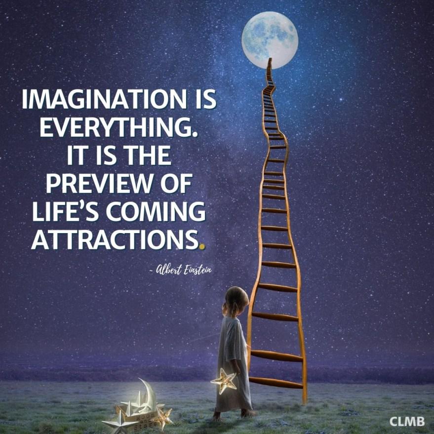 Albert Einstein Imagination is Everything Motivational Quote