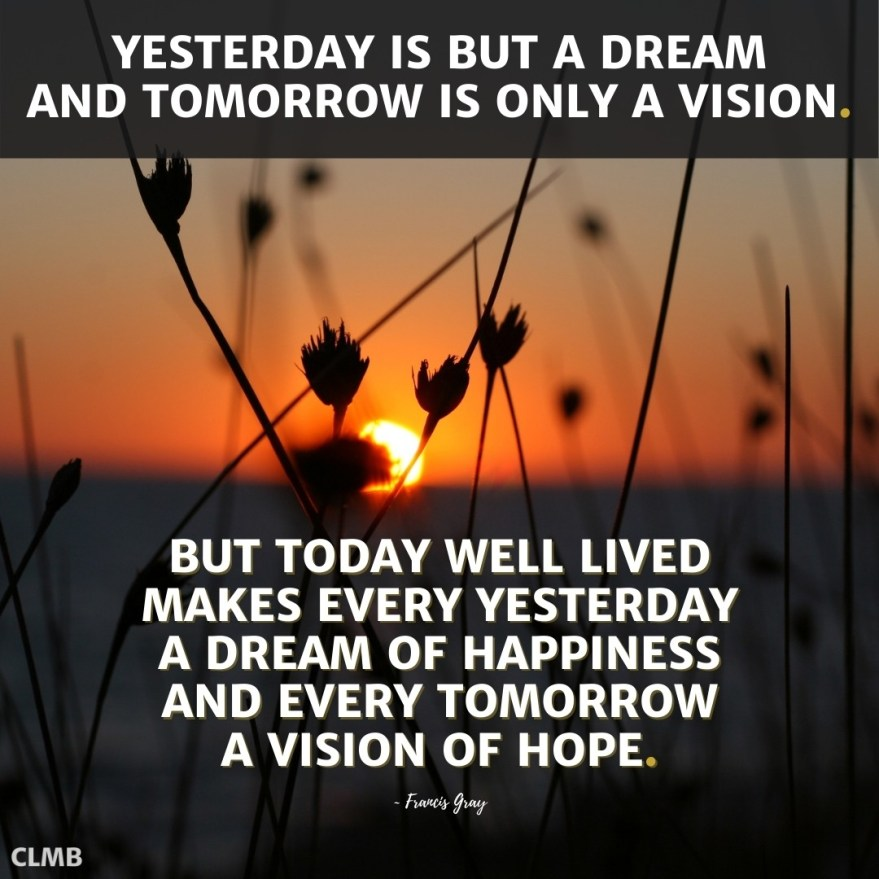 Francis Gray Vision of Hope Motivational Quote