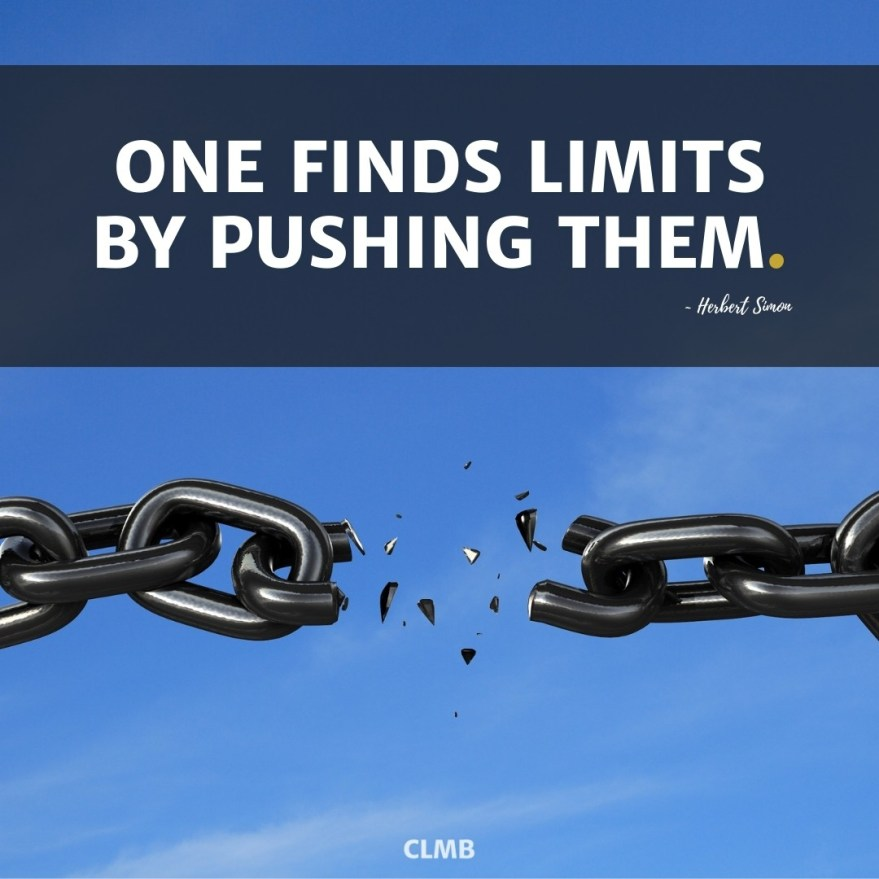Herbert Simon One Finds Limits Motivational Quote
