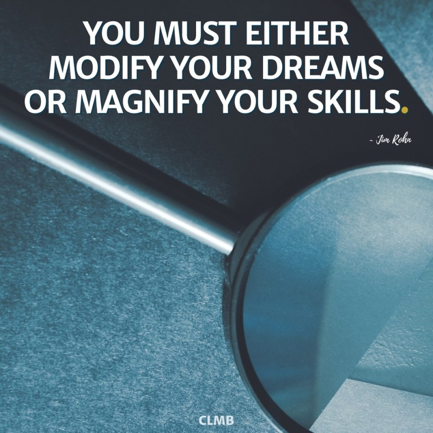 Jim Rohn Magnify Your Skills Motivational Quote