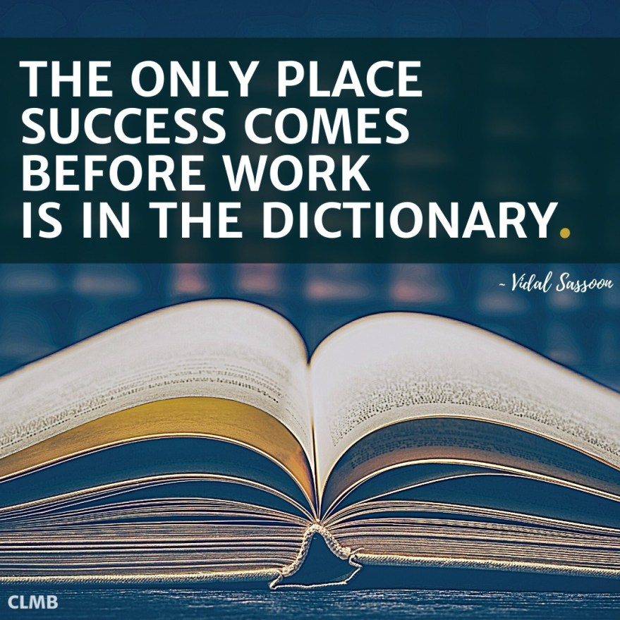 Vidal Sassoon Success Dictionary Motivational Quote