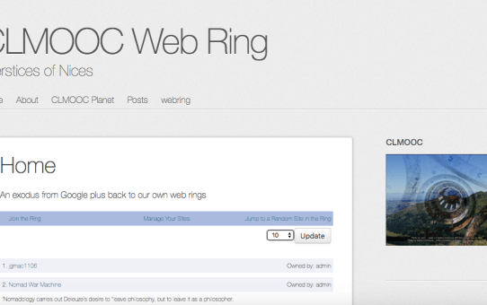The CLMOOC Planet and Web Ring