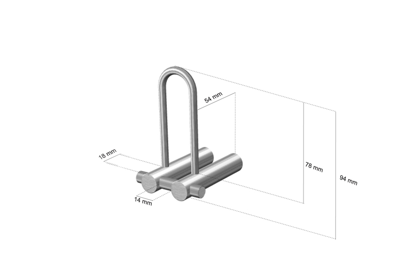 CL-218 Cool Line Spare Toilet Roll Holder Dimensions   Cloakroom Solutions