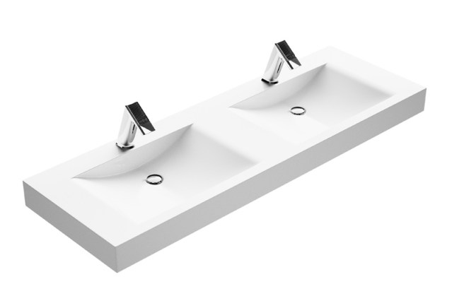 CONTI+ Swing Double Washbasin   Cloakroom Solutions