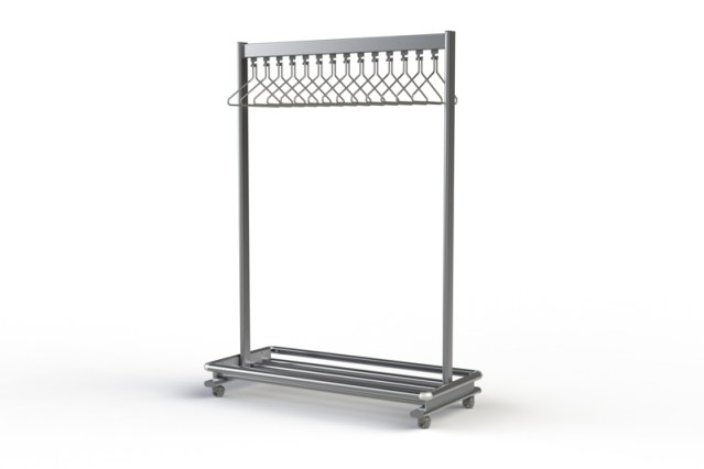 RG70LR Mobile Coat & Bag Rack | Cloakroom Solutions