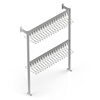 Free Standing Rails | Cloakroom Solutions