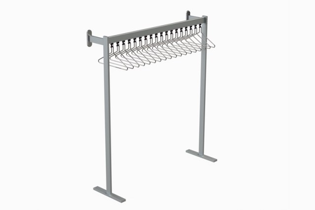 FS70x28.4 Floor to Wall Mounted Coat Rail   Cloakroom Solutions