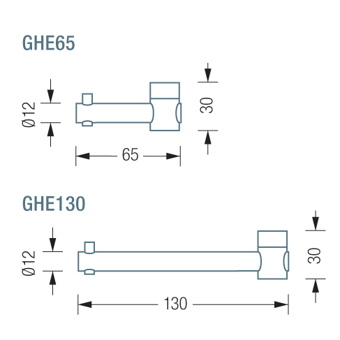 PHOS GHE65 & 130 Hook Dimensions   Cloakroom Solutions