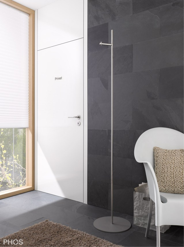 Phos Straight 1V Coat Stand   Cloakroom Solutions