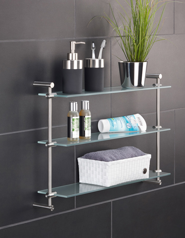 PHOS GR600-3 Washroom Shelf | Cloakroom Solutions