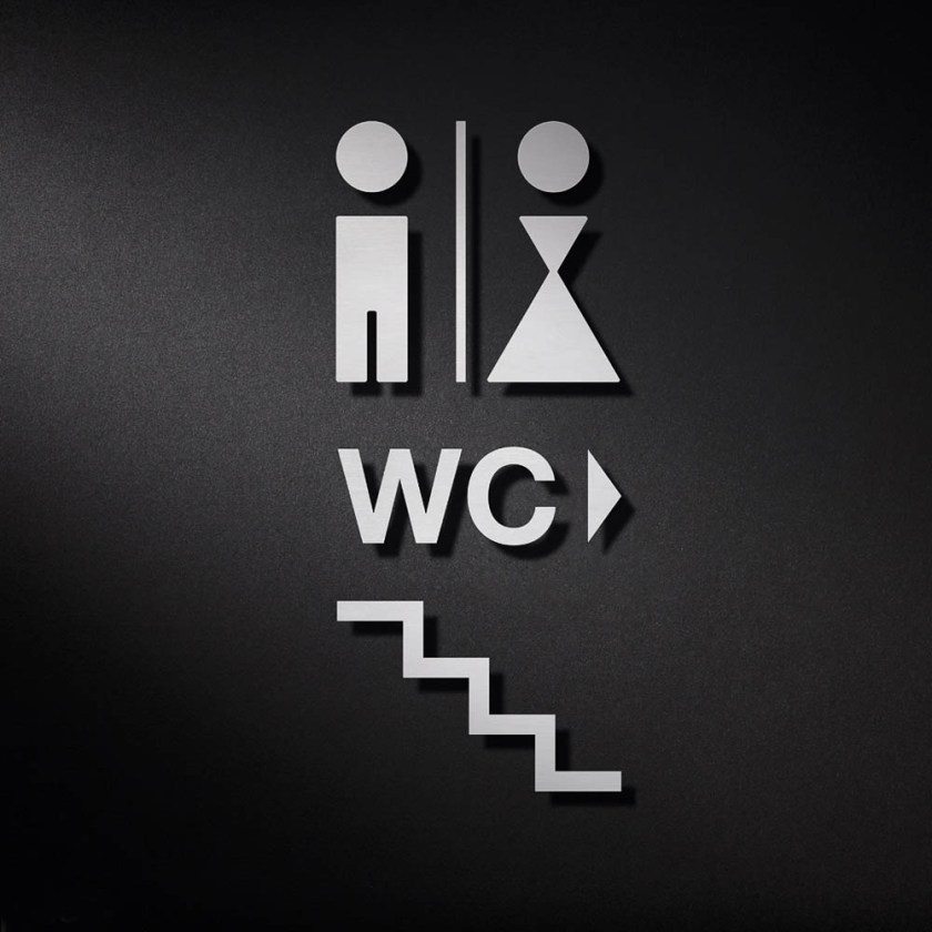 P0219 WC Signage | Cloakroom Solutions