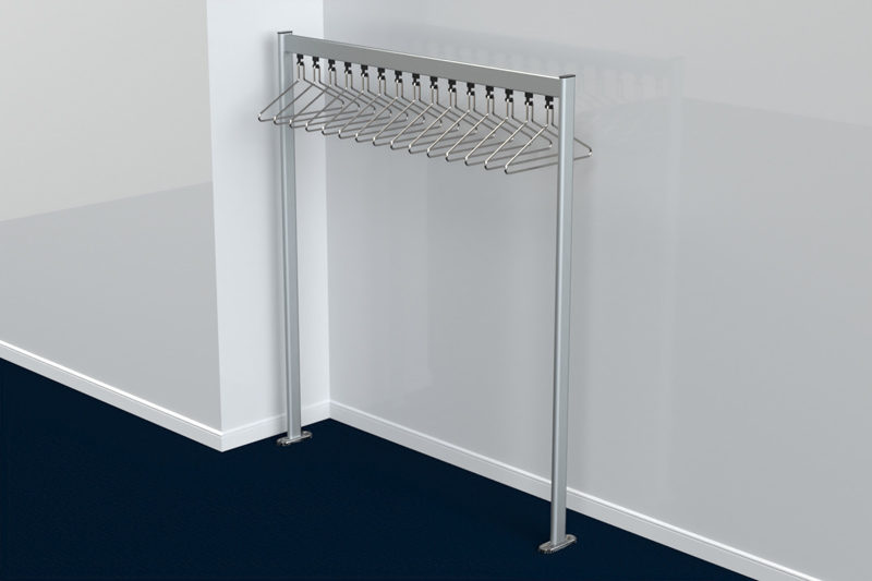 FS70x28.1 Floor Mounted Coat Rail | Cloakroom Solutions