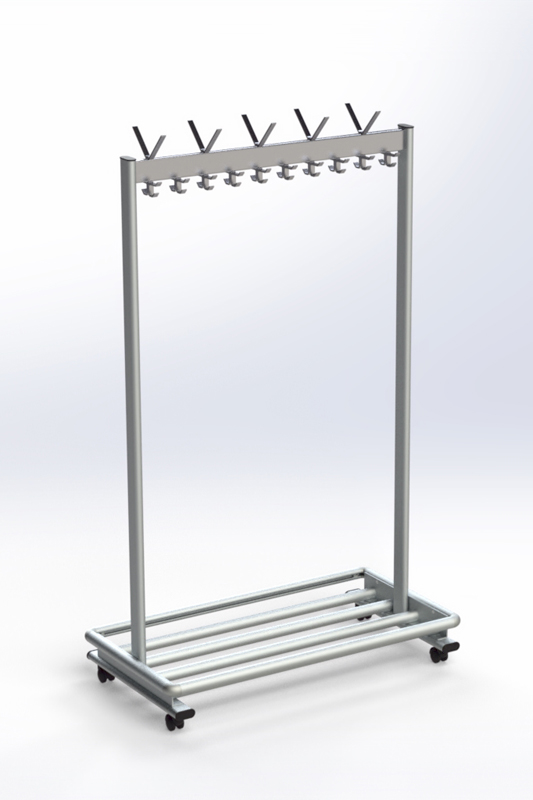 RG70LR-2 Mobile Coat Rack | Cloakroom Solutions