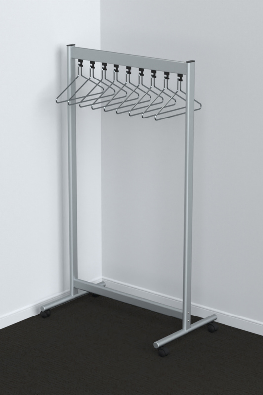 RG70x28-30 Mobile Coat Rack | Cloakroom Solutions