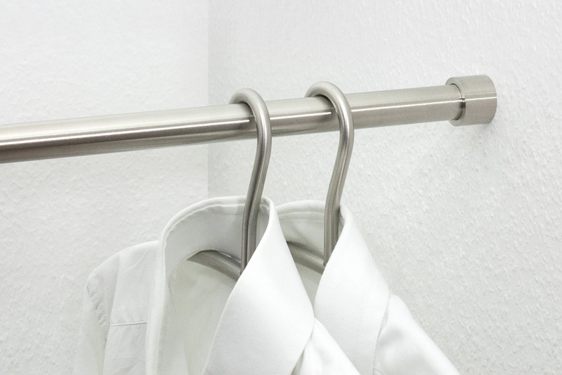 GSRN20 Wardrobe Rail | Cloakroom Solutions
