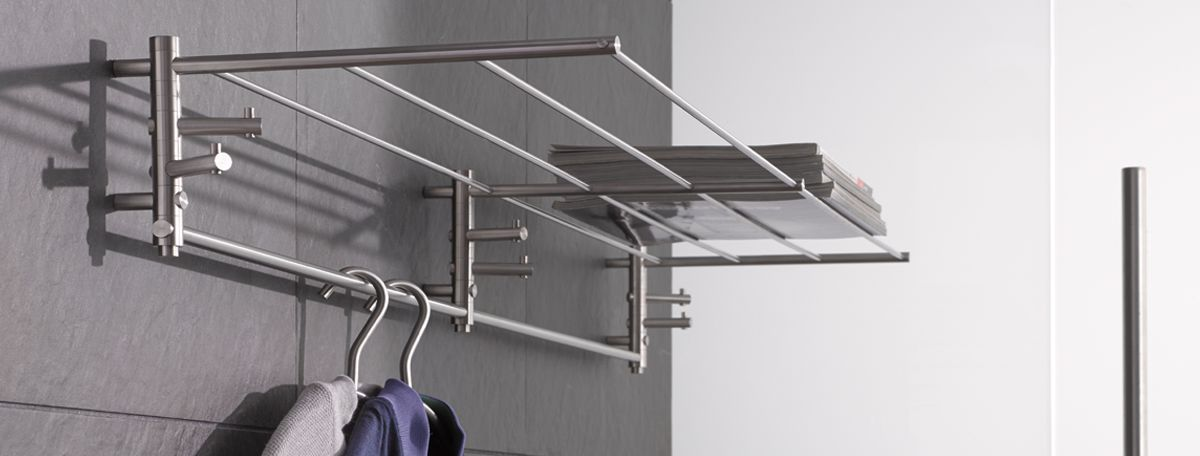 Wall mounted coat rails & shelves