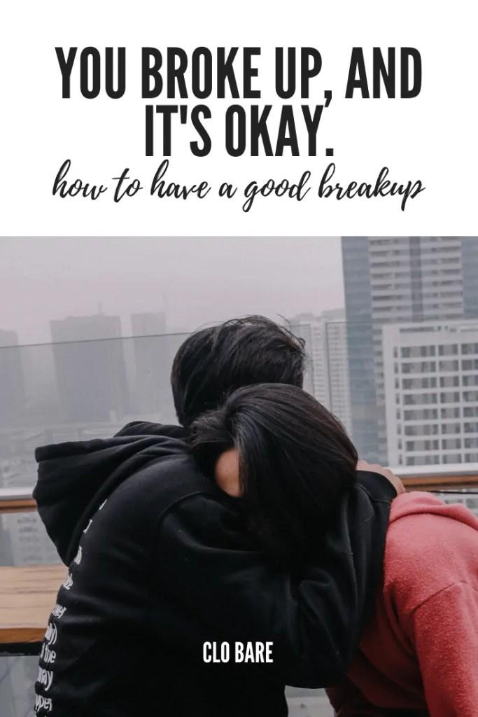 a couple breaks up but it's okay