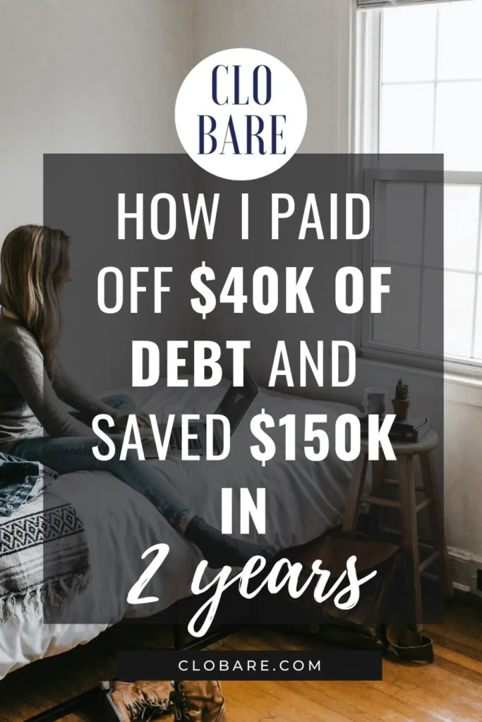 how I paid off $40k in debt