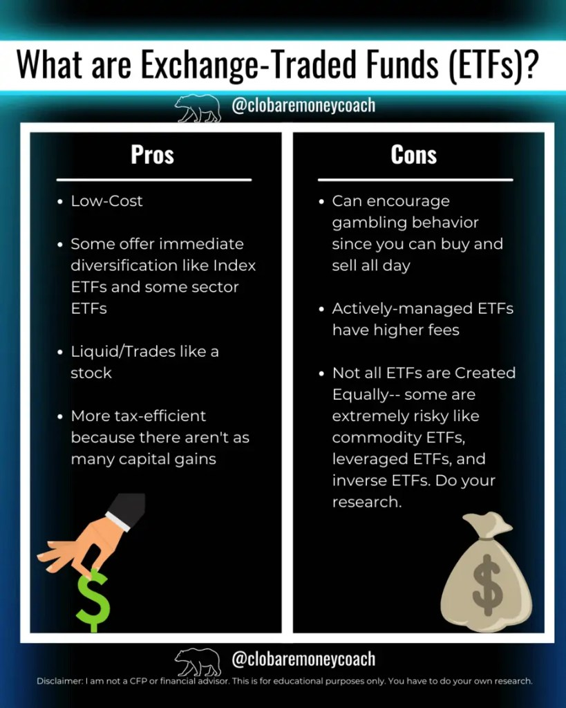 the pros and cons of etf investing
