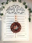 through a vintage door