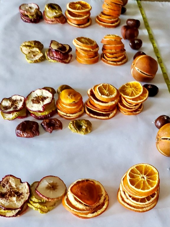 Dried fruit getting measured for length