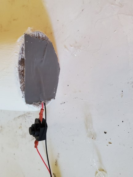 duct  tape to hold the wire in the candle base