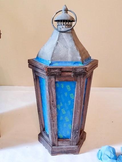The small lanternafter a light coat of wax