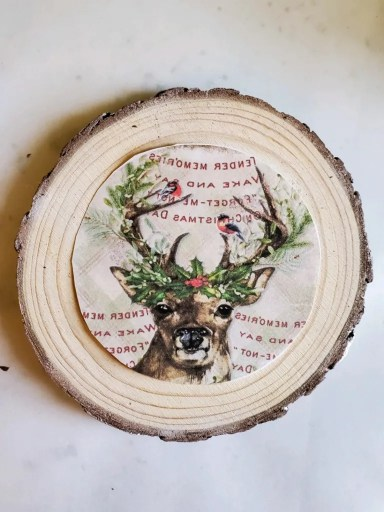 First image for DIY coasters cut out waiting to get added with Mod Podge