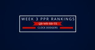 Week 3 PPR Rankings