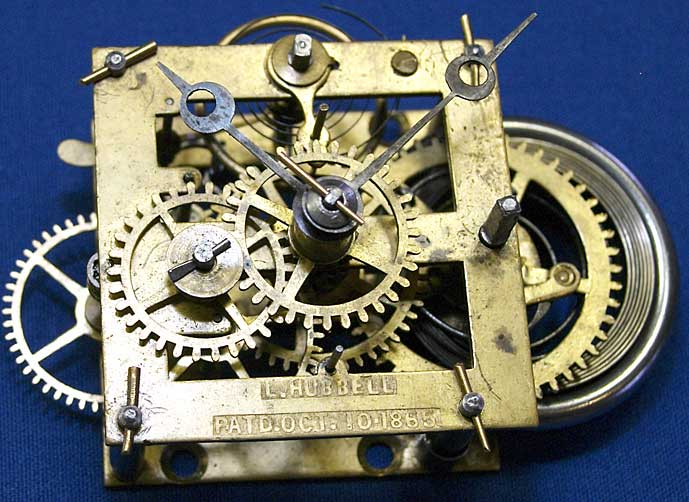 Hubbell marine movement with 1865 patent date