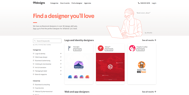99designs freelance website