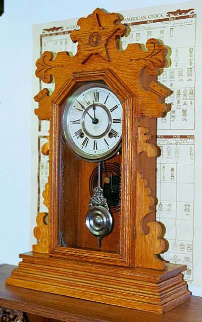 Ansonia Oak Kitchen Clock