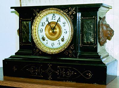 Ansonia Iron Mantel Clock