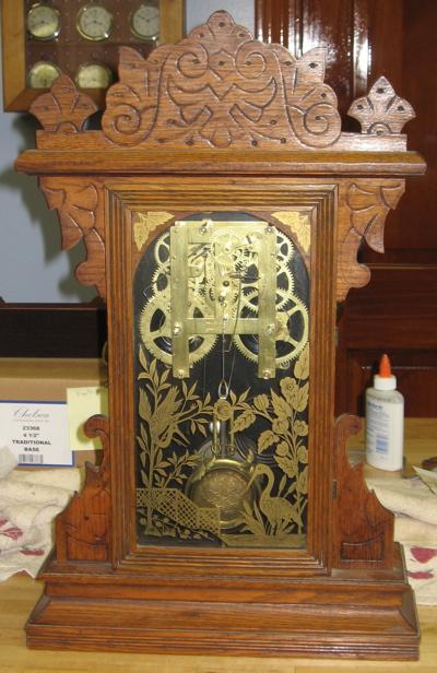 Gilbert Lion Oak Kitchen Clock