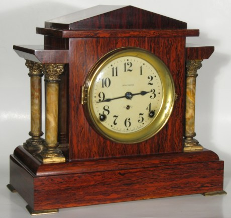 Seth Thoman Admanantine mantel clock, mahogany color.
