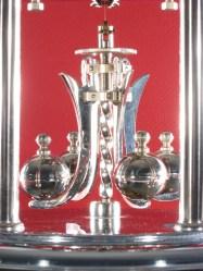 Showing the nickel plated pendulum