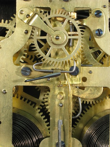 The recoil escapement, regulator and suspension spring.