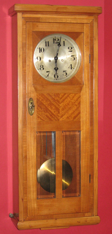 Gustav Becker 2 Weight Wall Clock Made In Tschechoslovakia