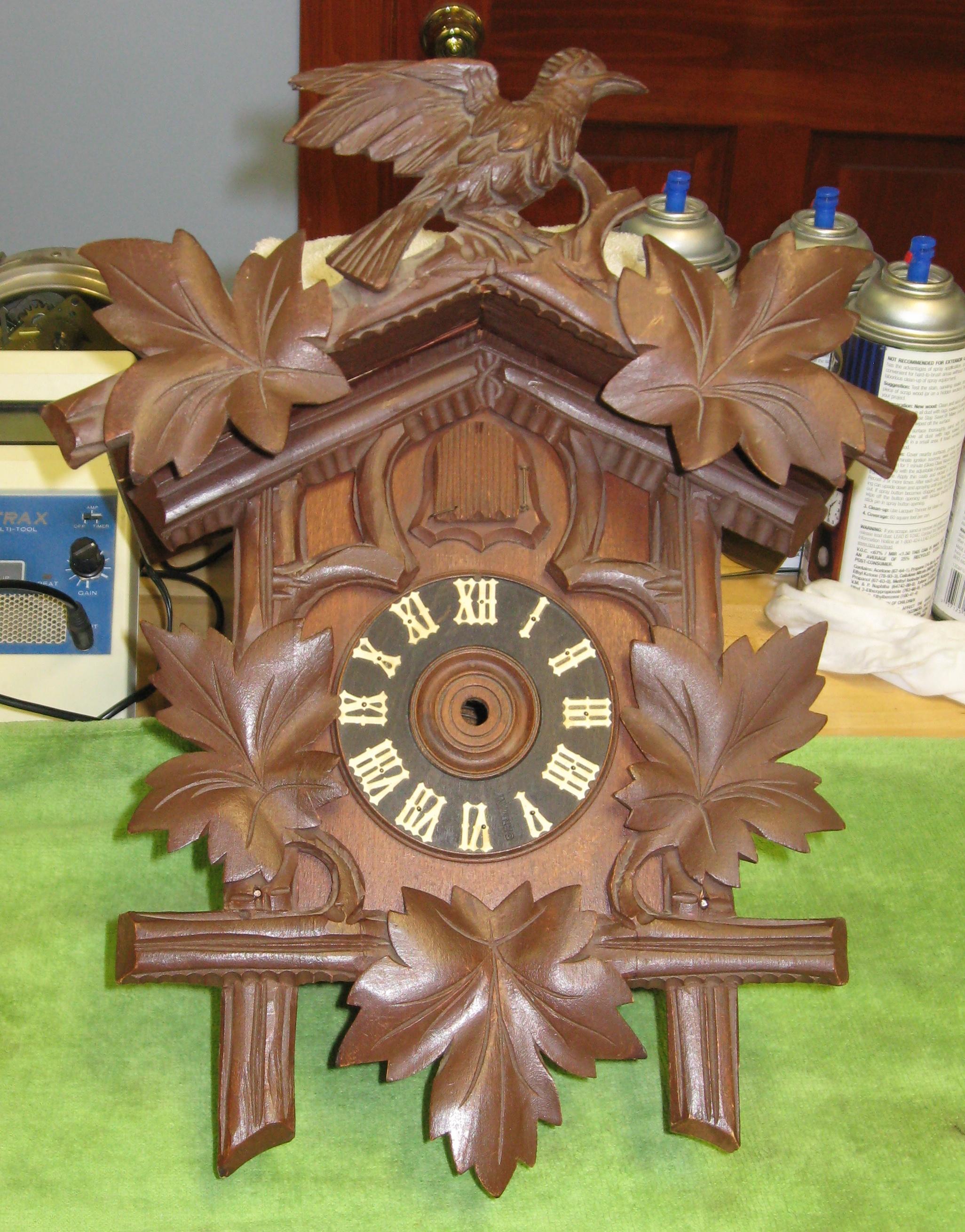 A 1950s Cuckoo Clock That Fell Off The Wall Clockinfo Com