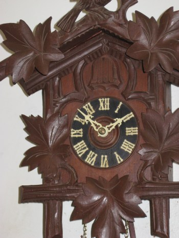 The completed clock