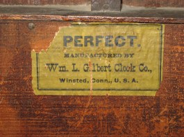 Back label: PERFECT, Manufactured by Wm. L. Gilbert Clock Co., Winsted, Conn., U.S.A.