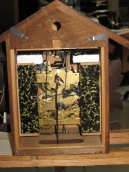 Inside the back of the clock