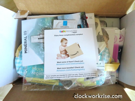 14730d53c Amazon baby registry free welcome box unboxing - clockworkrise.com