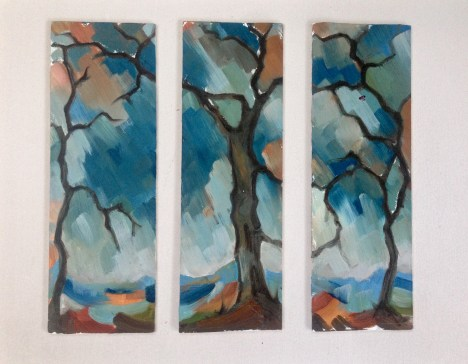 Winter Tree Triptych
