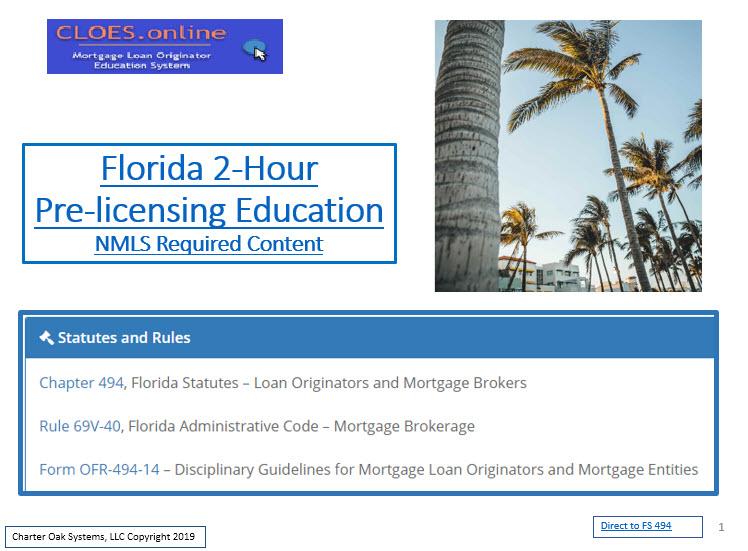 FAMP Mortgage Loan Originator<br>2 Hour FLORIDA SAFE Act NMLS ID# 10384