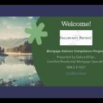 Mortgage Advisor Compliance Program