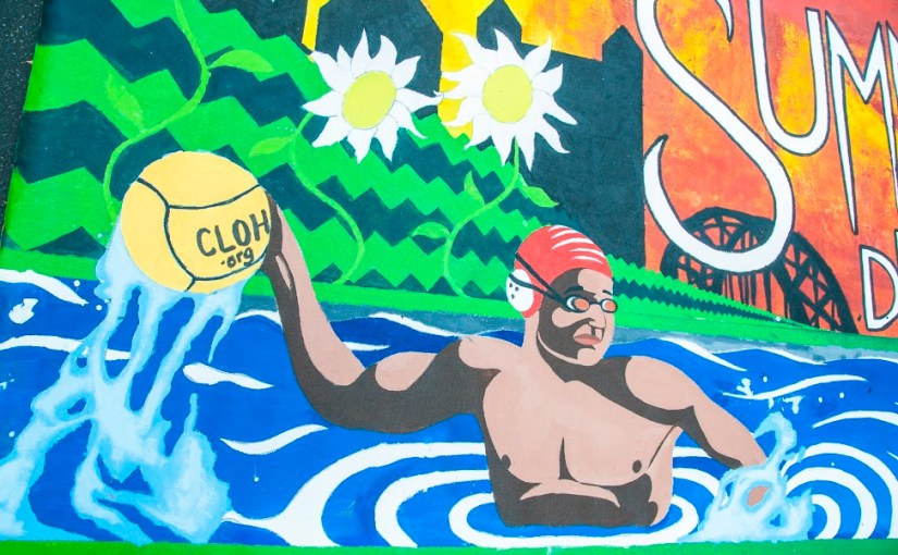 Labor's Fruits: CLOH.org water polo mural from Conor and Camp Faison