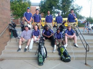 Obama Golf Team at Steps of School