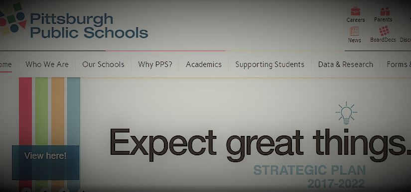 Expect Great Things, the slogan of Dr. Anthony Hamlet, superintendent, Pittsburgh Public Schools
