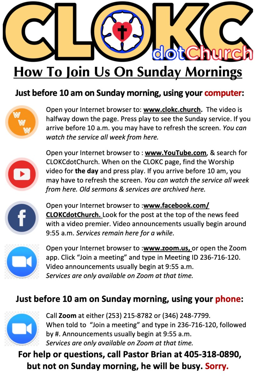 How To Join Us On Sunday Mornings2